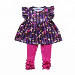 Wholesale Hot Style baby clothes set tunic tops matching tight pants children outfits remark girl suits