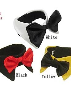 Use Bandanas & Hats / Tie / Necklaces for Dogs / Cats Black / White / Yellow Spring/Fall Wedding / Christmas S / M / L / XL / XXL Cotton