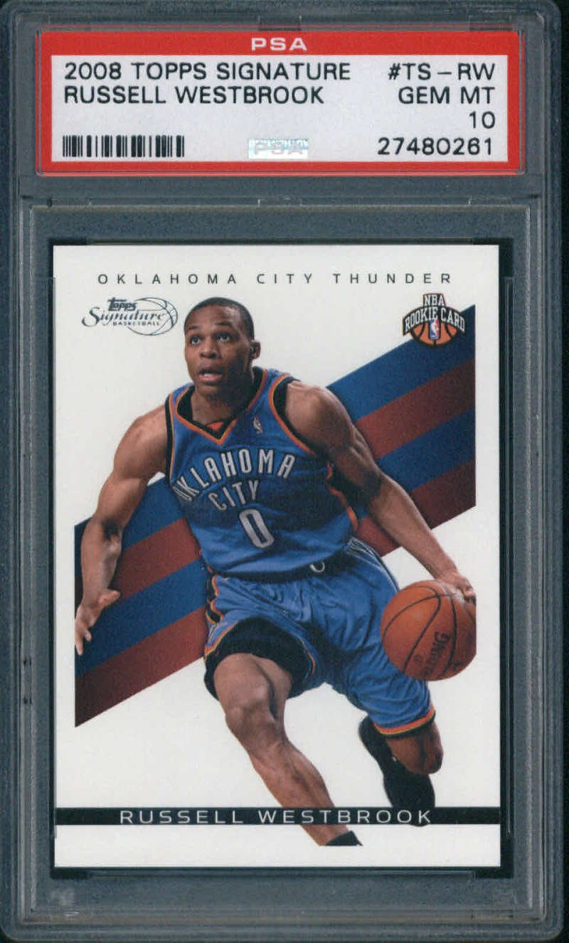 8acd7a603aa 2008-09 Topps Signature #TS-RW Russell Westbrook Rookie PSA 10 Thunder (
