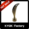 KYOK popular decorative curtain rods leaf finial,Chrome fancy curtain finial,double curtain rod finial