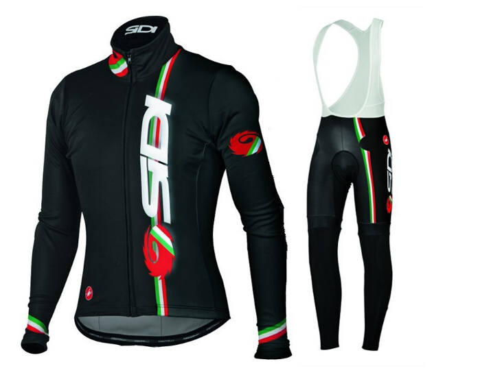 Get Quotations · SIDI Long Sleeve Autumn Breathable Cycling Jerseys Black  Race Bicycle Clothing Roupa Ciclismo Mountain d408f0ddd