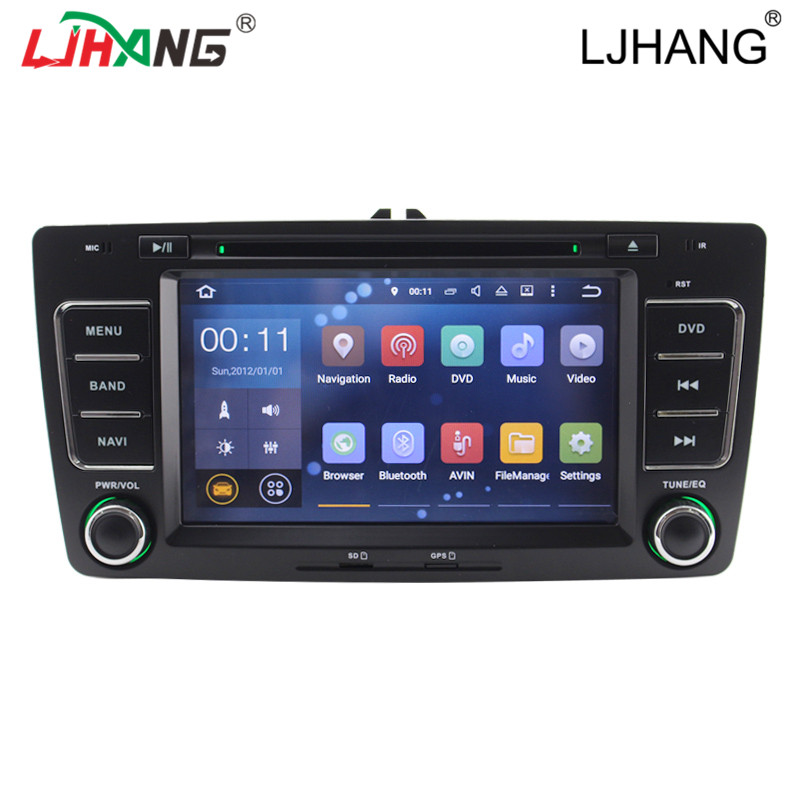 1G RAM Android 5.1 2 Din 7 Inch Car radio stereo Player For Skoda Octavia 2013 Wifi DVD GPS FM BT