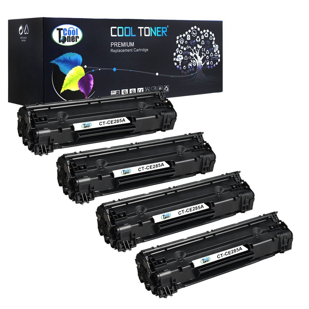 Get Quotations · Cool Toner 4 Packs 85A Toner Compatible for HP 85A CE285A  P1102w Toner Cartridge for HP
