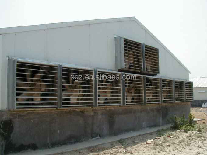 modern advnced automated low price metal chicken house