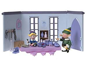 Rudolph the Red Nosed Reindeer The Elves Toy Shop with Hermey and Boss Elf