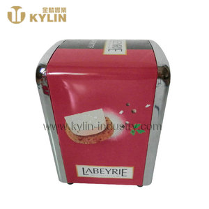 High quality antique metal customized retro tinplate napkin dispenser