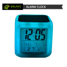 2017 New arrival sublimation blank creative three parts printable colorful alarm clock for christmas gift