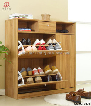 Attractive Hot Sale Cheap Melamine MDF Luxury Shoe Cabinet Part 15