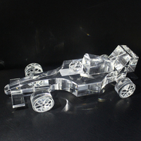 Wholesale Exquisite Optical Crystal Formula One Racing Car Model For Game Souvenirs Gift