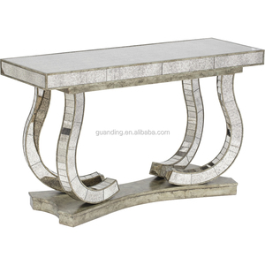 antique mirrored console