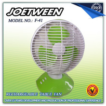 Solar rechargeable small table fan F41