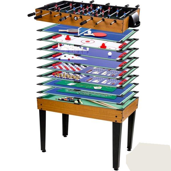 Mini table de billard enfants table de billard 15 en 1 - Table multi jeux enfant ...