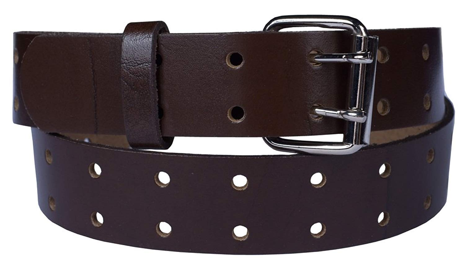 """2 Grommet Holes Belt 100% Top Grain One Pc. Leather,1.5"""" wide, Made in USA"""