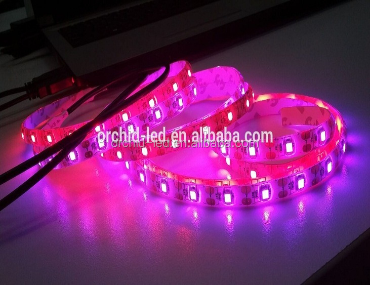 2016 Brand New Hot Factory Price 2835smd 5VDC 4.8W 60Leds/m IP65 Waterproof USB interface Pink/Red LED Flexible Strips