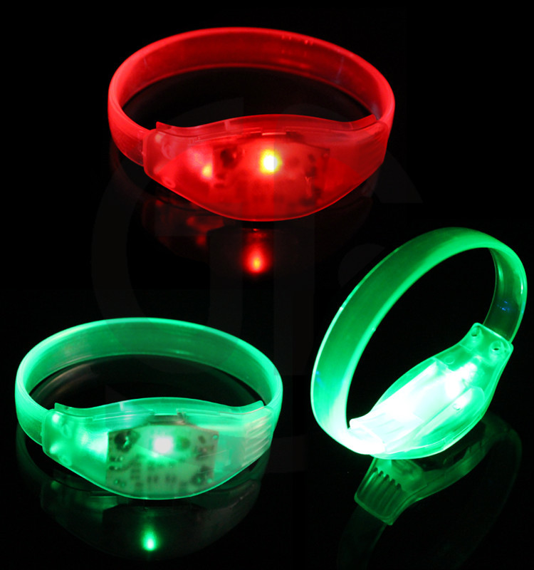 Free Samples Factory Price Silicone Sound Activated LED Bracelet/LED Bracelet