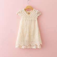 CREMA AVORIO CROCHET CAP MANICHE BOHO RICAMATO LACE FLOWER GIRL DRESS