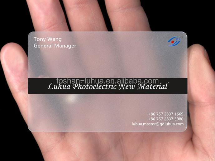 Transparent PVC Carte De Visite