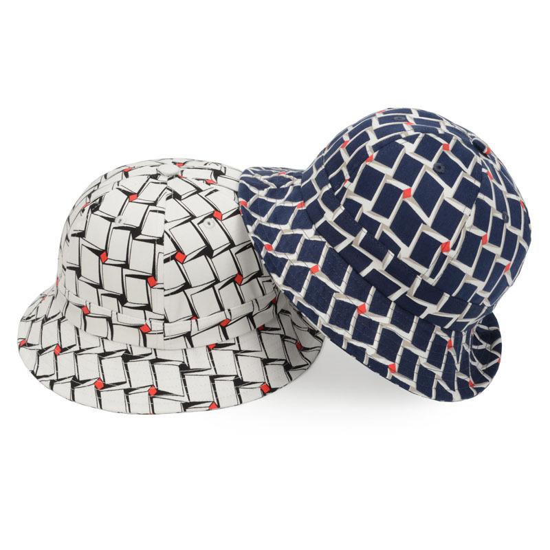 ca5dae784ab Get Quotations · Outdoor Block Print Bob Sun Hat Summer Bucket Hats for  Women Europe Retro Sunbonnet Casual Hats