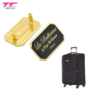 Custom Metal Brand Logo Name Plates, Metal Logo Label Luggage Bag Hardware Accessory