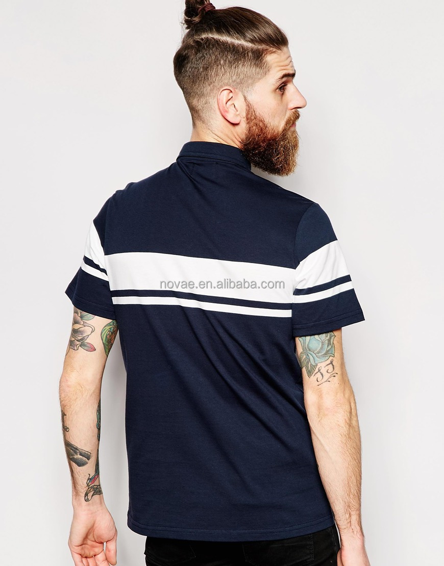 b00c0c8ca Wholesale Embroidered Polo Shirts Logo Mens Pol Shirt Embroidery Chest  Button Custom Striped Polo Shirt