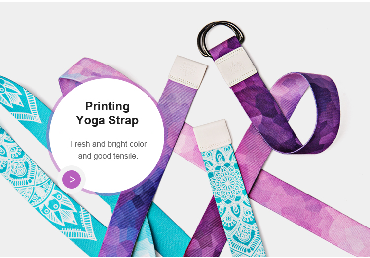 Colorful fitness yoga strap elastic props resistance band custom logo