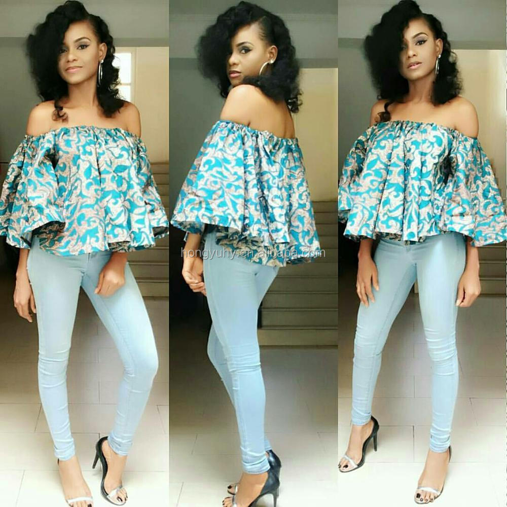 C4059 Cheap African Clothing Sexy Girls Off Shoulder