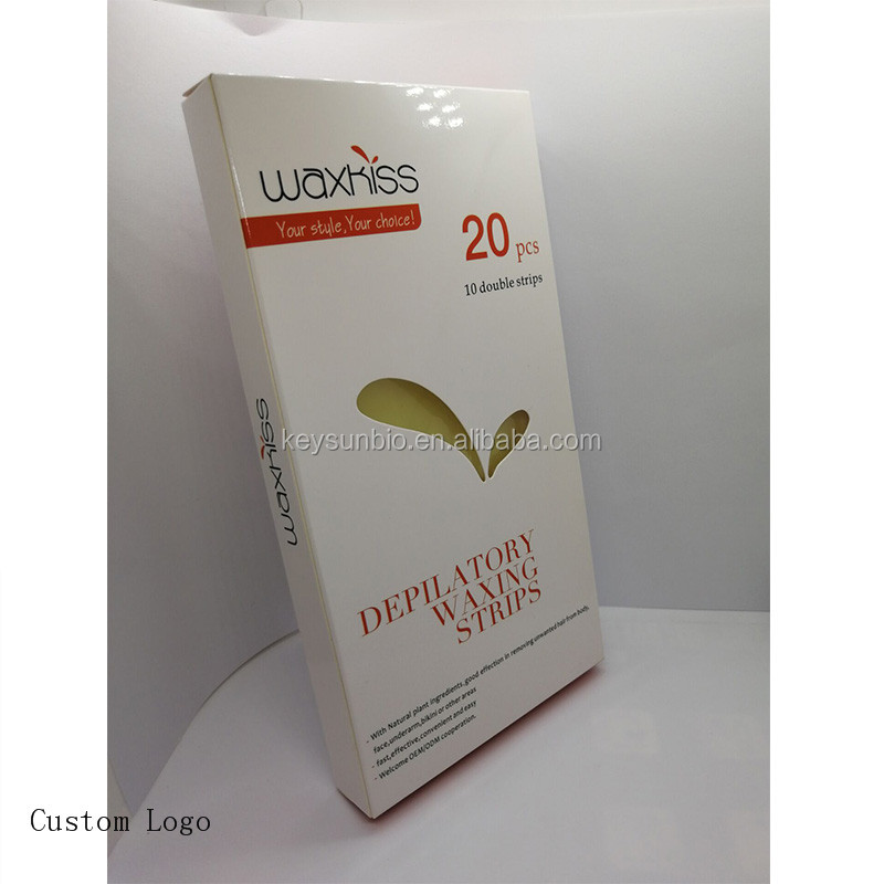 Private label Ready to Use Depilatory ขนาดใหญ่ Body Hair Removal Cold Wax Strips