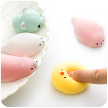 wholesale cheap funny cute small rubber animal squishy sticky toys