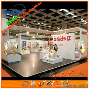 Exhibition Stand Reception : Wooden exhibition booth with fair reception desk for trade show