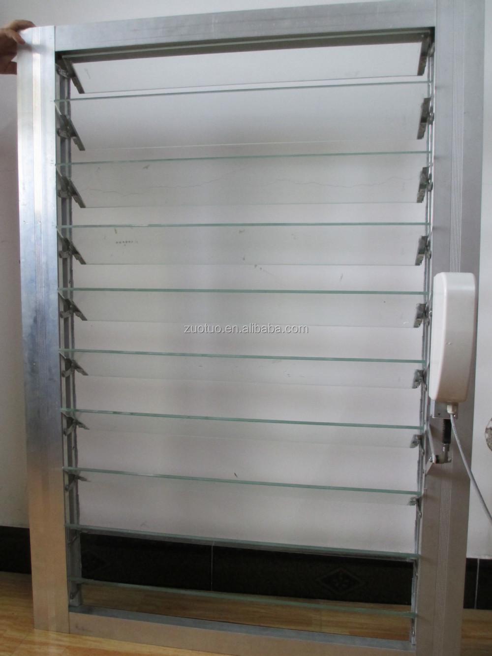 Alta calidad muebles de cristal persiana vidrio persianas for Ventanas con persianas incorporadas