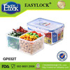 Four Plastic Compartment Storage Box for Freshness Preservation