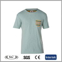 high quality stylish europe green men t-shirt viscose cotton with pocket