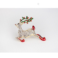 2018 Fashion Christmas Design Sika Deer Brooches