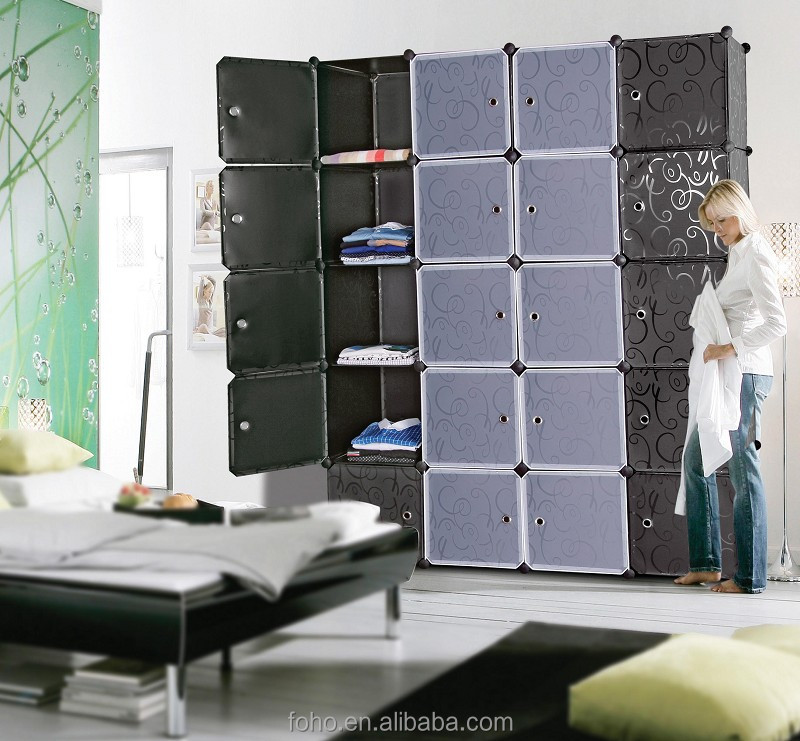 Plastic Shelf Bedroom Storage Units Box Cloth Wardrobe Removable Door Product On Alibaba