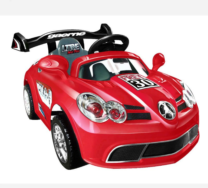 Cool Red Remote Control Electric Car for Kids