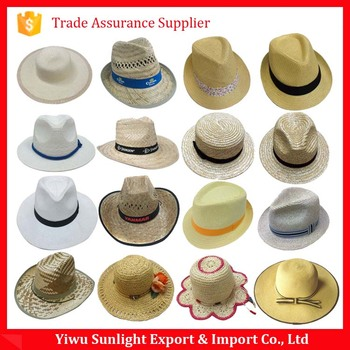 93b49bacf30fc Promotion Straw Boater Hat Custom Straw Hat Blank Wholesale - Buy ...