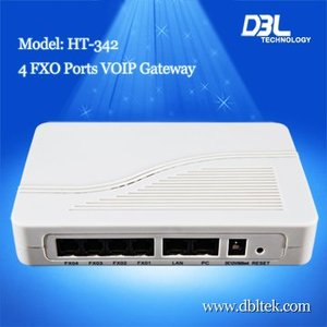 Four FOX Ports VoIP SIP Gateway ( HT-342), Support SIP&H.323
