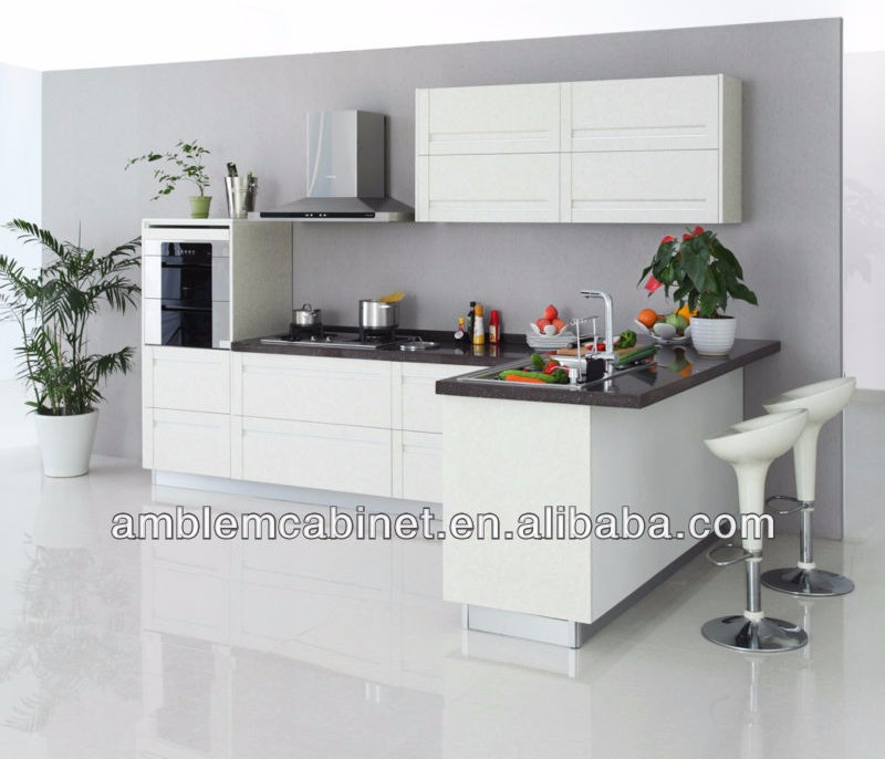Modern Simple Durable Pvc Modular Kitchen Cabinet Designs