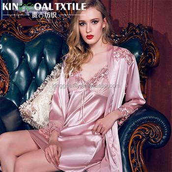 6afa8c625 100% Mulheres Primavera e Verão camisola de seda de seda Pura Plus Size