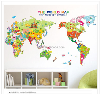 7123 high quality world map wall stickerdecal printinggraphic 7123 high quality world map wall sticker decal printing graphic selling vinylpvc gumiabroncs Images