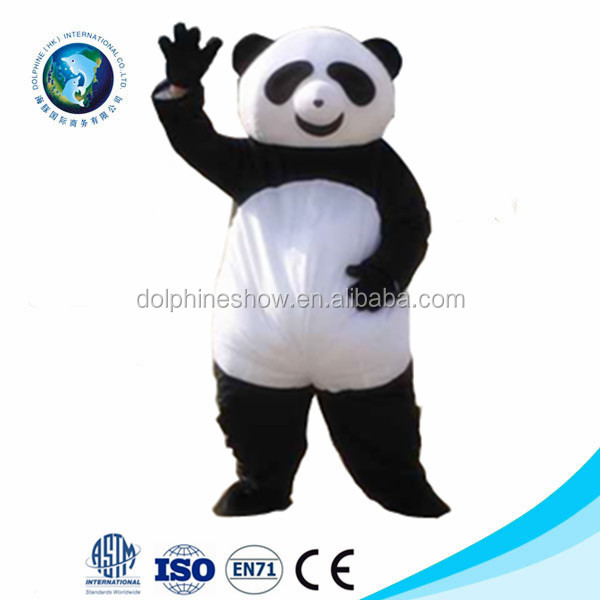 New kid panda animal mascot costume fancy dress costume