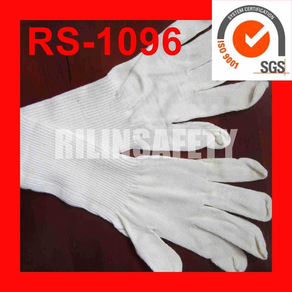 Fingerless gloves for sun protection - Rilin Safety Sun Protection Long Sleeve Gloves Cheap White Cotton Gloves Padded Fingerless Gloves