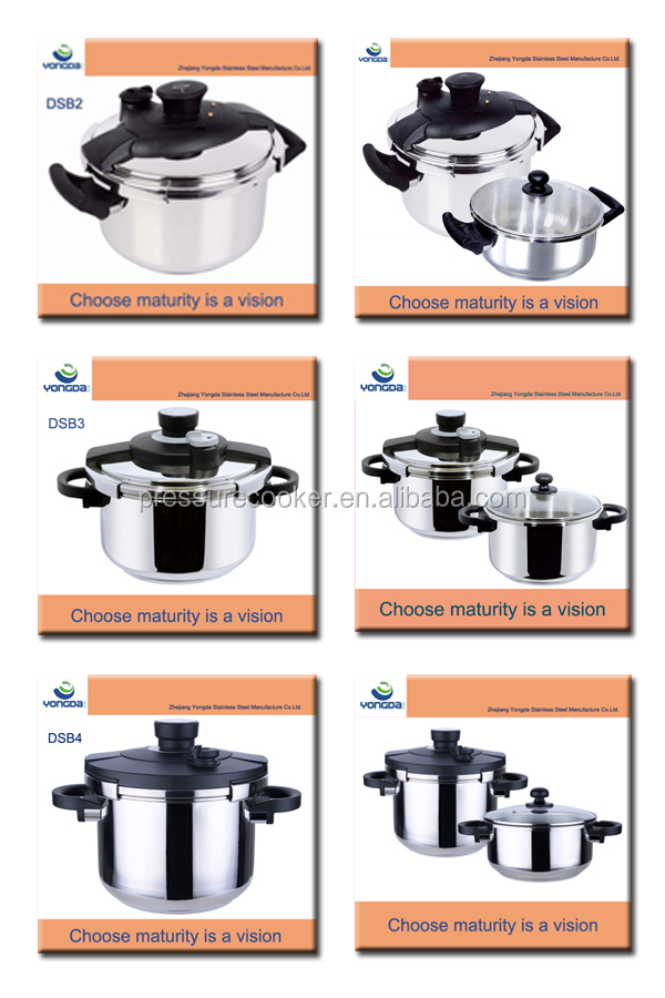 Yiwu кухонные принадлежности из нержавеющей стали высокого давления набор со стеклянной крышкой для супа