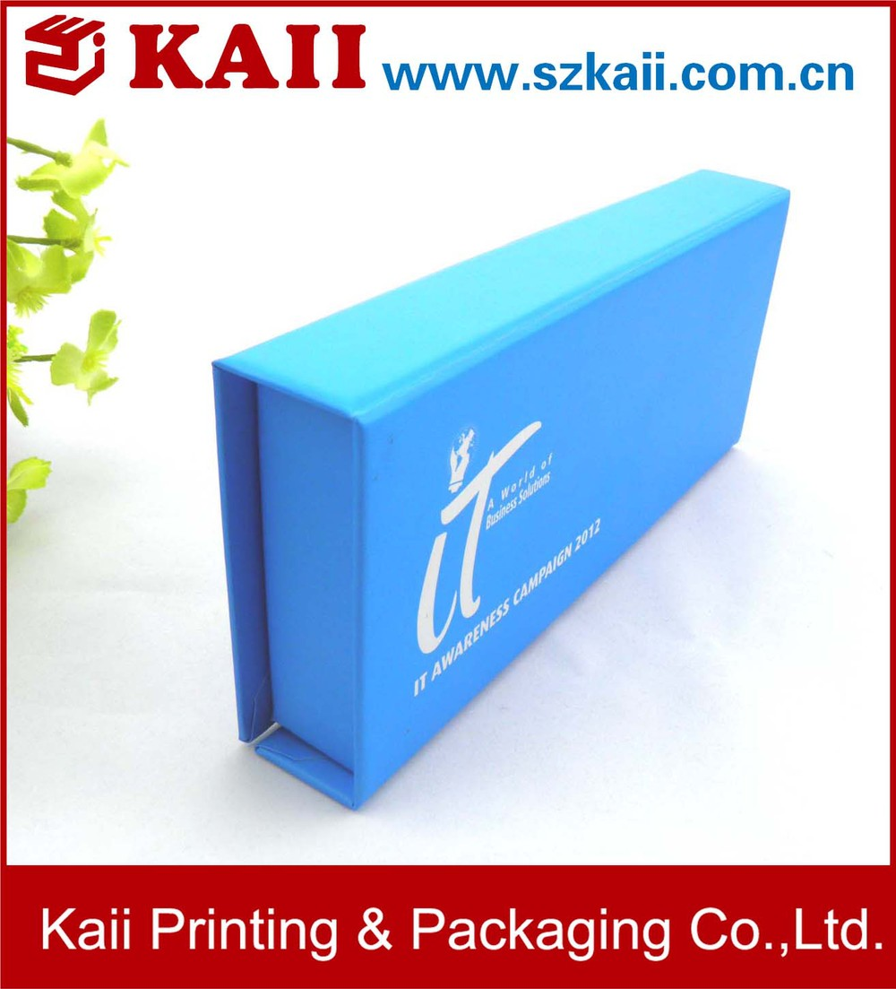 Custom oem folding cardboard file box packaging design for Product design companies