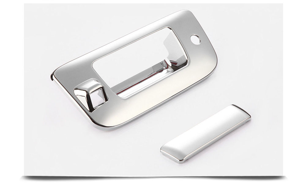 2007-2013 Chevy Silverado/ Sierra Accessories Car Tail Gate Tailgate Door Handle Cover ABS Chrome W/ Keyhole, W/ Camera Cutout