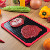 2019 Hot Sell Defrosting Tray with Red Silicone Border Quick Thaws Frozen Food No Electricity, No Chemicals, No Microwave