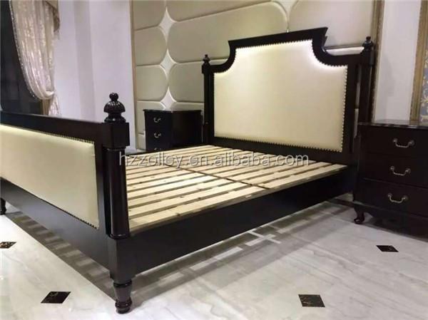 Precio Bajo Dormitorio De Madera Maciza Antigua Trineo Cama Muebles ...