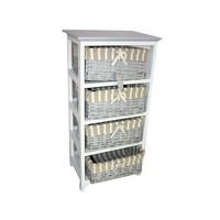 Cao County Haixin 4 Wicker Basket Drawer Bathroom Cabinet