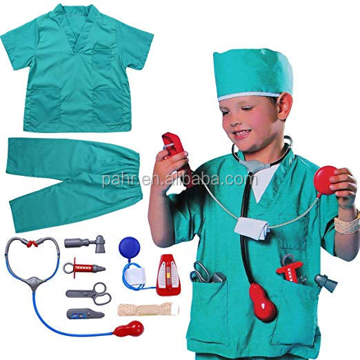 Fine Children Party Costumes For Chef Uniform Boys Girls Cosplay Halloween Kids House Play Cook Performance Clothing Apron Hat Set Home