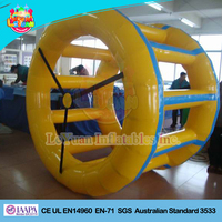 Commercial inflatable skate wheels/water roller wheel toy